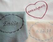 Embroidered customization - add on item monogram name personalization