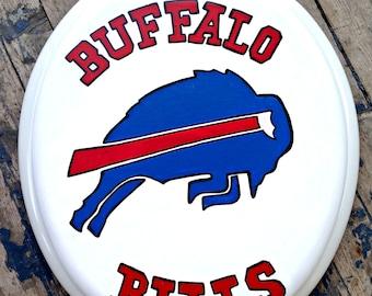 Buffalo BILLS Toilet Seat Hand Painted DebbieIsAdopted NFL Football
