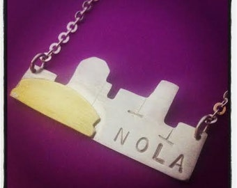 Large New Orleans Skyline Necklace