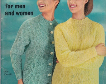 Cable Knits For Men and Women Vol. 78 + 1963 + Vintage Knitting Patterns