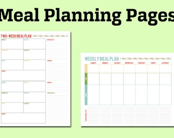 Printable Meal Planning Pages