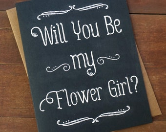 Will You Be My Flower Girl Card Ask Flower Girl Invitation Asking Flower Girl Gift Will you be my Flowergirl Flower Girl Ringbearer