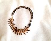 Brass Spine Bracelet