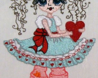 Bestie - Valerie Valentine Embroidery Design - 5x7 hoop