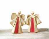 Burlap Angel Decorations, Vintage Christmas Decor