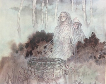 Sisters of the Well - Magical / Fantasy Art Print