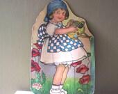 Vintage Sunbonnet Sue Litho Cardboard Poster Store Display