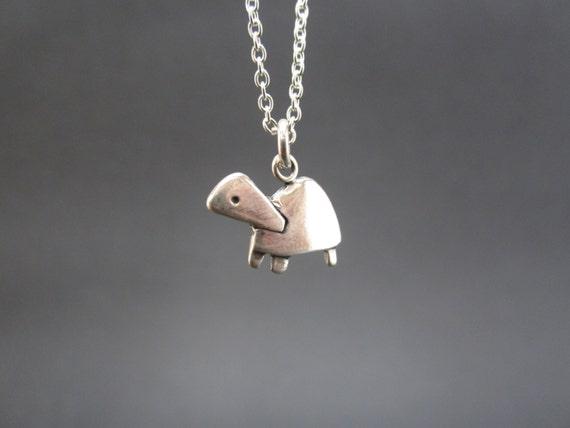 Little Turtle Necklace - Sterling Silver Pet Turtle Pendant - Tortoise Charm