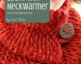 Luxurious Neckwarmer Loom Knitting Pattern and Tutorial