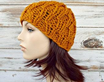 Knit Hat Womens Hat - Amsterdam Beanie in Mustard Yellow Knit Hat - Mustard Hat Yellow Hat Mustard Beanie Womens Accessories Winter Hat