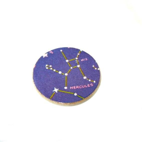 Cosmic Star Constellation Jewelry Starry Night Sky Hercules Astronomy Brooch Lapel Pin