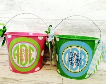 Kid's Bucket - Custom Monogrammed Bucket - Personalized Bucket - Personalized Toy Bucket - Personalized Bucket - Gift Bucket