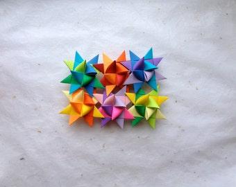 Moravian Paper Star Ornaments Multi (3 inch)