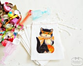 Halloween Favor Goodie Bag Childrens Party Kitty Vintage Custom 4X6 10 count or 6X8