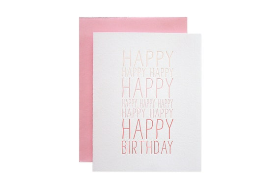 Happy Happy Letterpress card