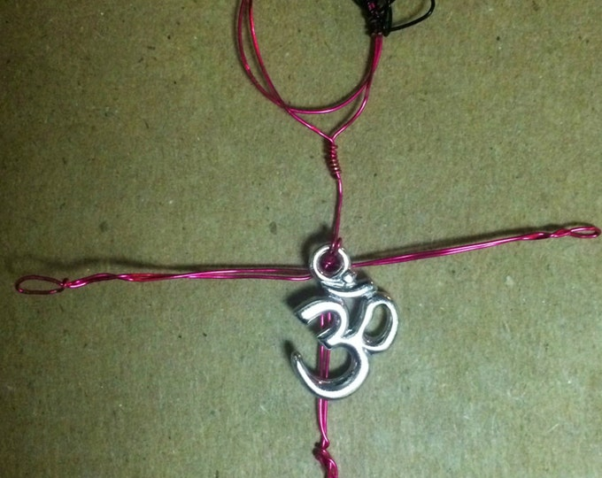 Yoga Jewelry * Wire-wrapped Necklace * Yogini * Om Necklace * Colored Wire