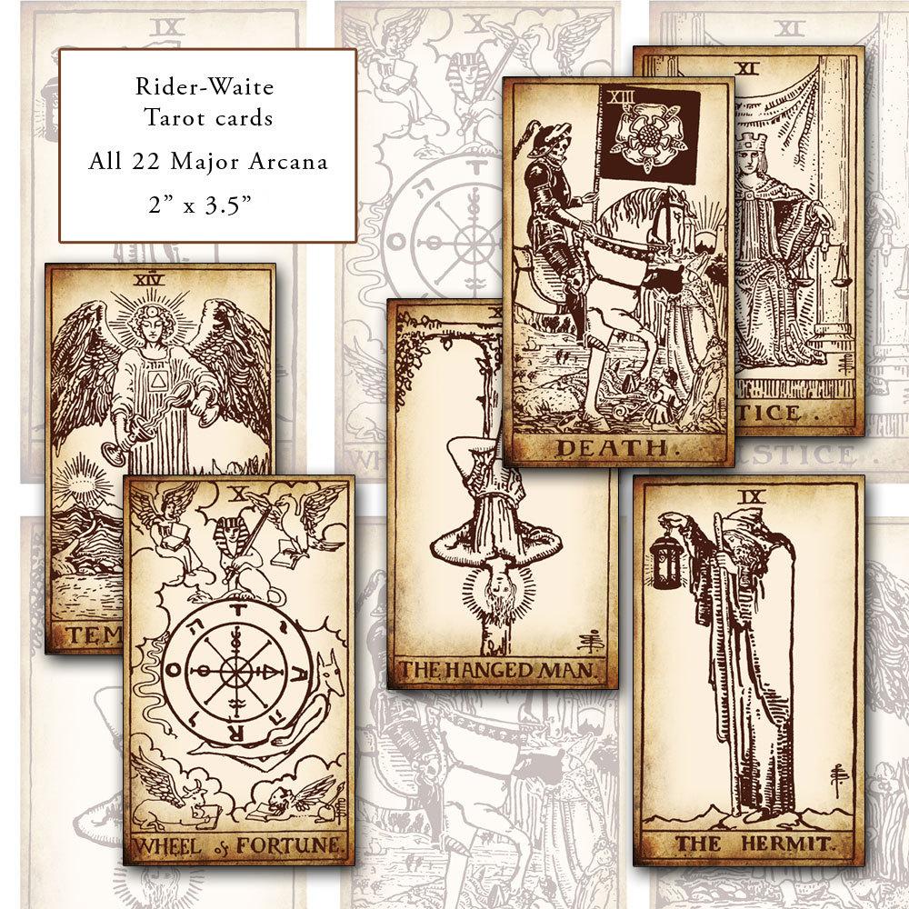 Fabulous image within free printable tarot cards