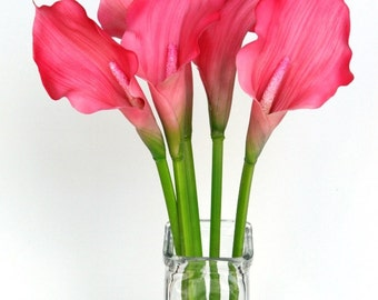 Medium Latex Calla Lily in Hot Pink - 20 Inch Stem