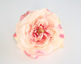 Large Pink Shades Sophia Rose - Artificial Flower, Silk Flower Heads - ITEM 0554