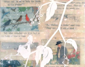 Teach Your Children Well - encaustic mixed media, limited edition print