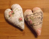 Cottage Chic Pink and White Valentine Heart Bowl Filler Decorations