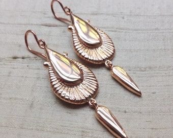 The Amphora Earrings in Rose Gold Plated Pink-Silver