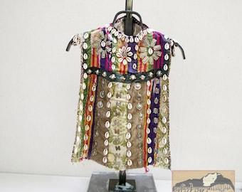 Vintage Child's Vest, Afghanistan- Ceremonial Turkman, #12