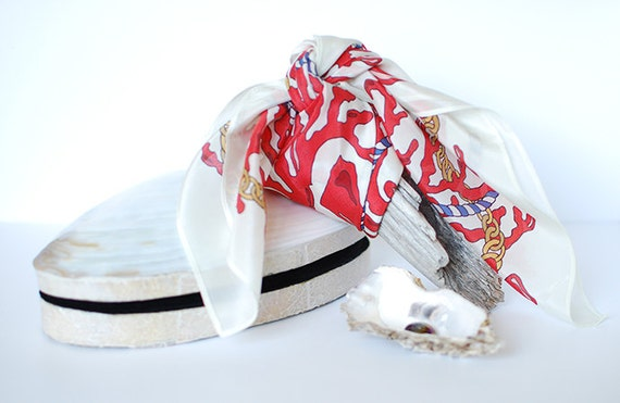 Red Coral Women's Silk Scarf