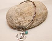 Anchor charm bangle bracelet nautical jewelry summer fashion teen cute