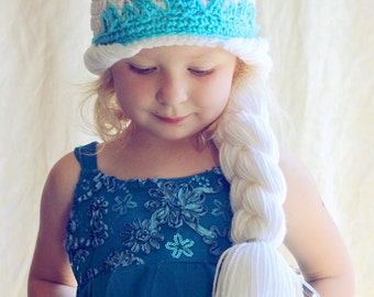 Free Crochet Pattern For Elsa Crown : 12 to 18 months - Crochet Elsa Hat