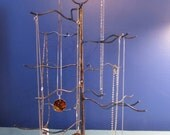 June Tree. Handwelded recycled steel tree for jewelry, holiday ornaments, or decoration. Made to order