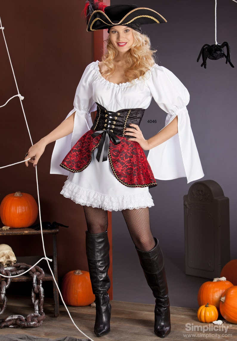 Simplicity 4046-Lolita Costume-Pirate, Witch,Fairy-Plus Size from ...