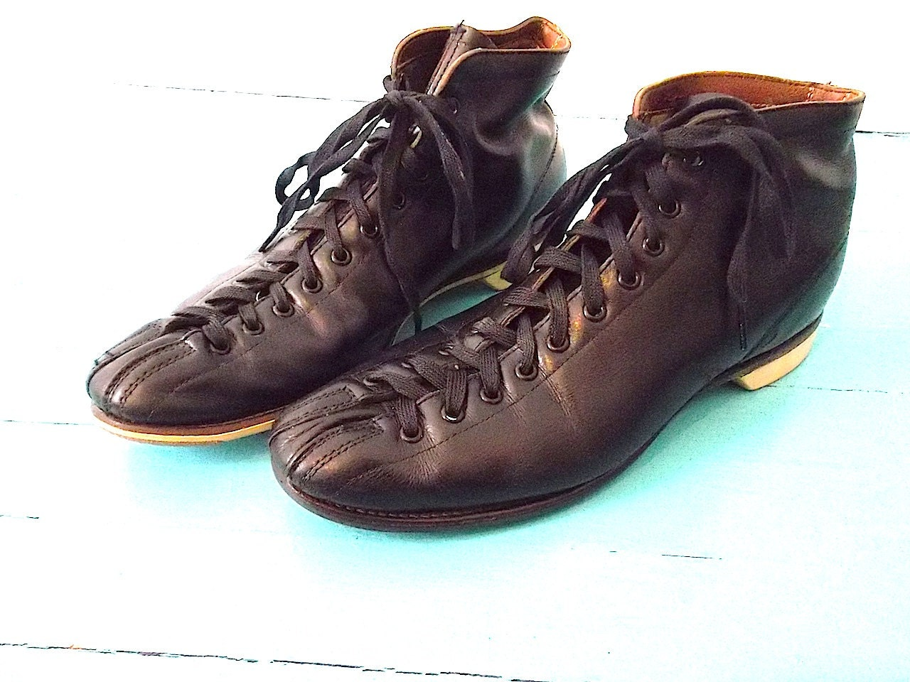 vintage 50s high top hyde bowling shoes mens 9 womens 10 5