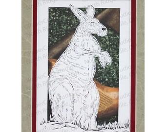 Kangaroo Papercutting- Handcut Original