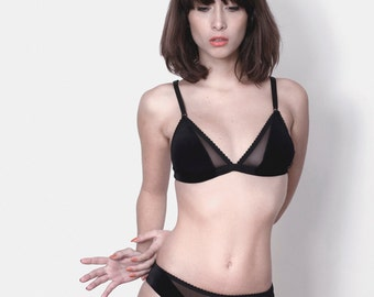 Bra soft cup - Lady  midnight Black velvet