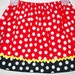 Girls Skirt Minnie Mouse Dots Party Red Black toddler girl dress Kids Clothes