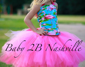 Pink Flamingo Costume Tutu Set  All Sizes Baby - 8