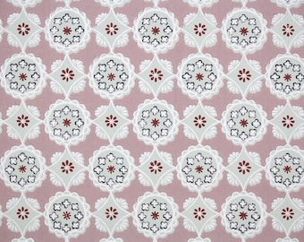 1940's Vintage Wallpaper - Mauve Gray and Pink Geometric