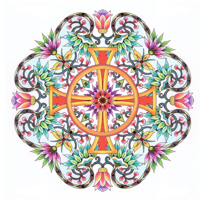 Christian Symbols Mandalas Adult