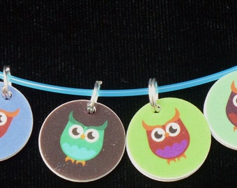 Knitting stitchmarkers, Crochet stitchmarkers, Parliament of Owls, Snag-free Stitchmarkers, Knitting Markers, Progress Keepers