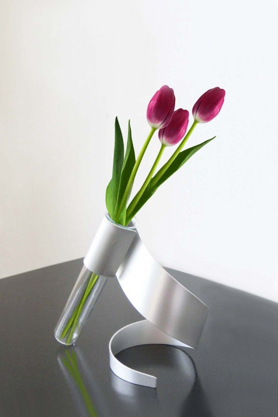Swirl Metal Sculpture Vase