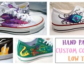 Custom Hand Painted Low Top Converse Shoes