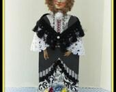 Catherine Handmade Mixed Media Victorian Collage Art Doll Decoration