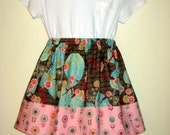 Blush floral Girls Skirt, Size 3    Ready to ship