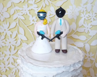 paintball wedding cake topper sample set