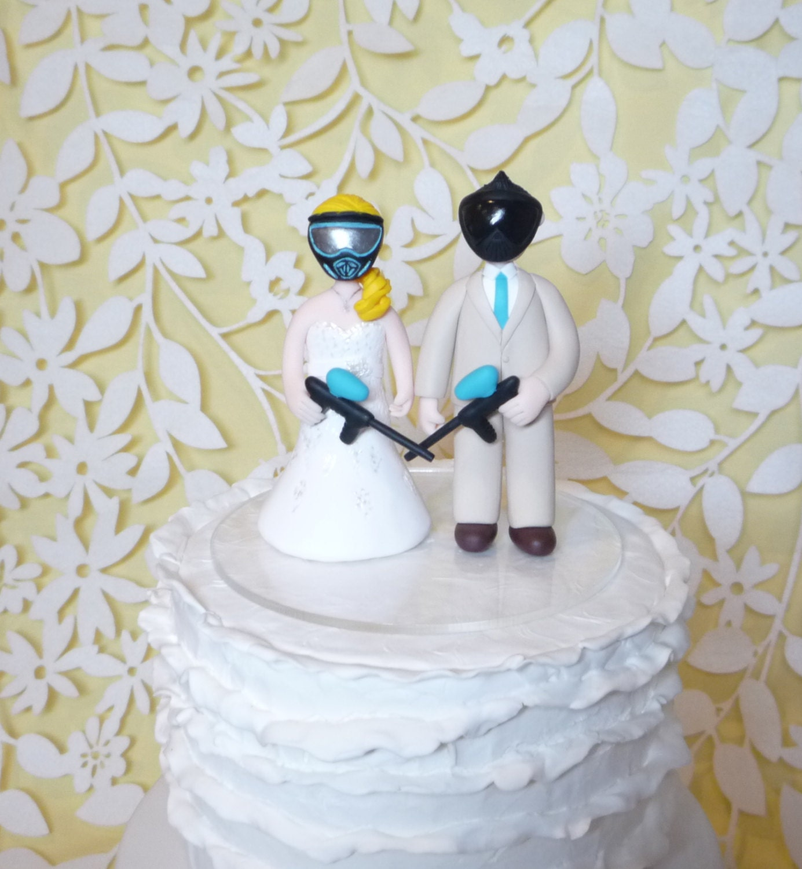 Cake Toppers Etsy Uk : Paintball cake topper