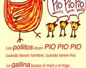 PIO PIO  12x18 Art Print by Giraffes and Robots