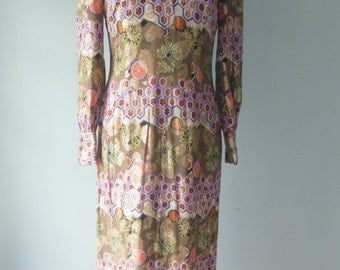 Vintage Nat Allan 1960s evening dress