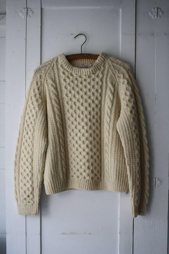 vintage wool fishermans sweater