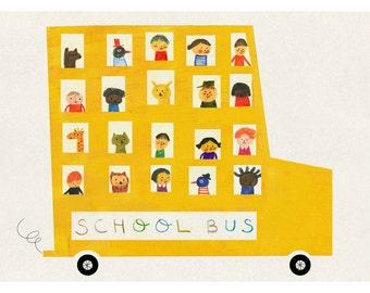 School bus big print